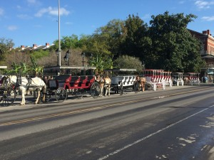 Carriages waiting for passengers