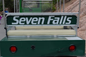 Seven Falls, tram, trolley, colorado springs, colorado, waterfalls