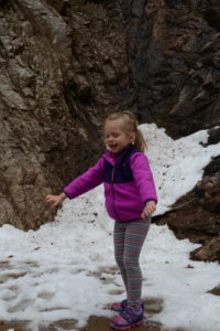 Snow, snow at seven falls, colorado springs, colorado, hiking, hiking with kids, waterfalls
