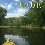 kayaking, kayak, cedar creek, missouri, creek, paddling